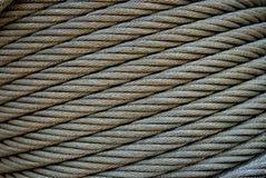 Diagonal de acero del cable Fotografía de archivo