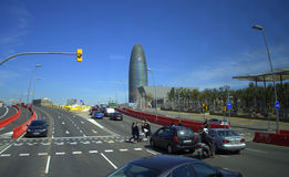 Diagonal de la avenida, Barcelona Imagen de archivo
