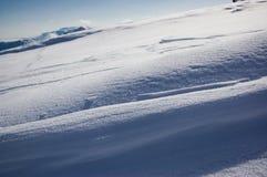 Diagonal de la nieve Fotos de archivo libres de regalías