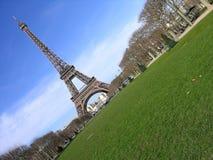 Diagonal de la torre Eiffel Imágenes de archivo libres de regalías