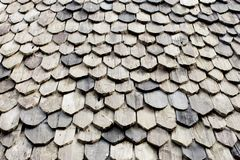 Diagonal detail of brown wood roof Stock Photos