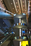 Diagonal escalators stairway  Royalty Free Stock Photo