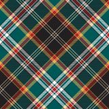 Diagonal fabric texture seamless pattern check plaid. Vector illustration Royalty Free Stock Photo
