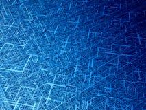 Diagonal fiber tangle. Deep blue wire 3d texture Stock Photo