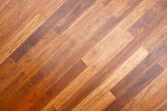 Diagonal floor. Diagonal style of brown wooden parquet flooring royalty free stock photo