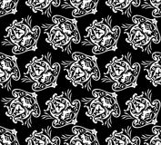 Diagonal Floral Pattern. Vector Illustration. No Meshes Stock Photos