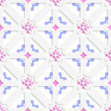 Diagonal flowers layered with blue and pink Stock Photography