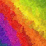 Diagonal full spectrum rainbow mosaic texture background with gray grout Stock Photo
