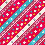Diagonal geometric. Seamless pattern. Stock Photos