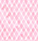 Diagonal gingham of pink colors on white background. Watercolor seamless pattern for fabric Royalty Free Stock Photography