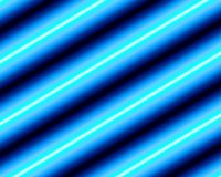 Diagonal glowing blue stripes Stock Photography