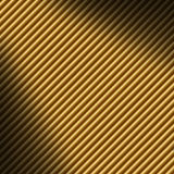 Diagonal gold tube background lit dramatically Royalty Free Stock Images