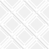 Diagonal gray squares and frames pattern. Abstract 3d seamless background. Diagonal gray squares and frames pattern with cut out of paper effect Royalty Free Stock Image