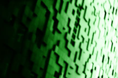 Diagonal green blocks bokeh background Stock Photo