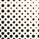 Diagonal halftone dots, circles vector seamless pattern. Diagonal halftone dots vector seamless pattern. Abstract geometric dotted texture. Stylish half tone stock illustration