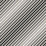 Diagonal halftone mesh, net, lace seamless pattern. Royalty Free Stock Images