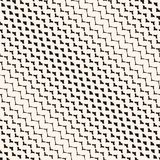 Diagonal halftone mesh seamless pattern. Vector grid, net. Zigzag texture. Royalty Free Stock Images