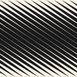 Diagonal halftone stripes seamless pattern, vector slanted parallel lines. Black and white design element. Diagonal halftone stripes seamless pattern, slanted Stock Images