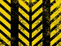 Diagonal hazard stripes texture. EPS 8 Stock Photography