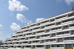 Diagonal hotels Stock Photography