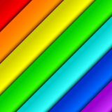 Diagonal iridescent panels. Multicolored panels form a background. Panels have colors of a rainbow royalty free illustration