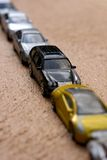 Diagonal line of cars Stock Photo