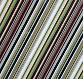 Diagonal line fabric pattern. In multi colors Stock Image