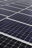 Diagonal line of solar array Stock Photo