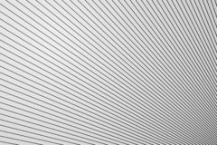 Diagonal line structure on white plastic wall surface, abstract background.  stock illustration