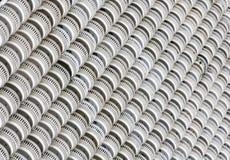 Diagonal linje av runda balkonger Royaltyfria Bilder