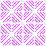 Diagonal magenta wavy lines pattern Royalty Free Stock Photography