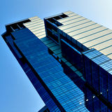 Diagonal modern business skyscraper Stock Photos