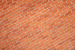 Diagonal modern red brick wall Royalty Free Stock Photos