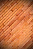 Diagonal mount of wood parquet Royalty Free Stock Image