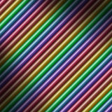 Diagonal multicolored tube background lit diagonally Stock Images