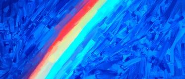 Diagonal night rainbow road illustration background Stock Images