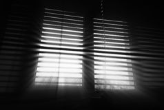 Diagonal office blinds with dramatic rays background. Orientation vivid vibrant bright black white rich composition design concept element object shape backdrop stock photo
