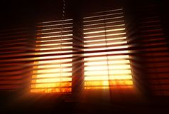 Diagonal office blinds with dramatic rays background. Orientation vivid vibrant bright color rich composition design concept element object shape backdrop royalty free stock photos