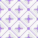 Diagonal offset squares and purple net pattern Royalty Free Stock Images