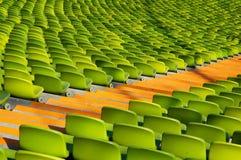 Diagonal olímpica del estadio que asienta Fotografía de archivo libre de regalías