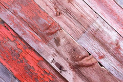 Diagonal Old Wood Planks with Rusty Nails Stock Images