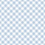 Light Blue Gingham Seamless Pattern. Diagonal pale light blue and white gingham seamless pattern Stock Photos
