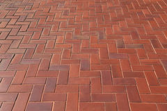 Diagonal pattern of brick pavers in a Herringbone style for back royalty free stock photography
