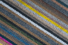 Diagonal pattern of carpet texture Royalty Free Stock Photo