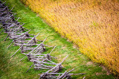 Diagonal Pattern of Fields and Fences Royalty Free Stock Photos