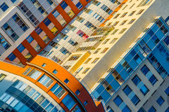 Diagonal photography of colorful building Royalty Free Stock Photo