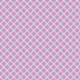 Diagonal pink and blue plaid seamless vector pattern vector illustration