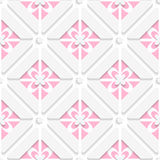 Diagonal pink floristic pattern Royalty Free Stock Image