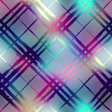 Diagonal plaid on blur background Stock Photography