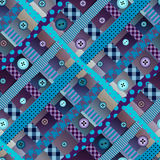 Diagonal plaid pattern in patchwork style with the Royalty Free Stock Photo